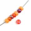 Ponybead 6/0 Orange/red Mix